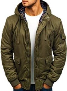 chaqueta verde militar hombre