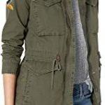 Chaqueta verde militar militar mujer