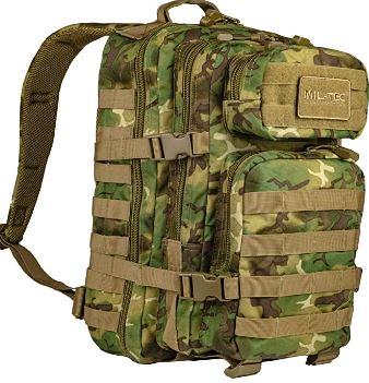 mochila verde militar militar camuflaje