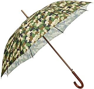paraguas clásico verde militar