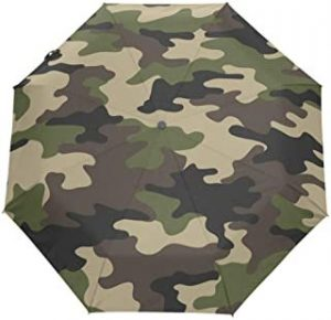 paraguas plegable camuflaje y verde militar