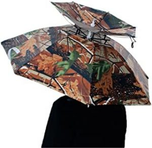 paraguas sombrero camuflaje verde militar