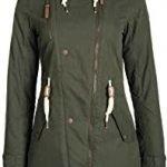 parka abrigo mujer verde militar