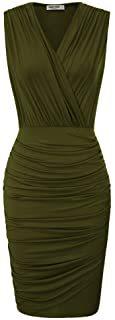 vestido verde militar ajsutado