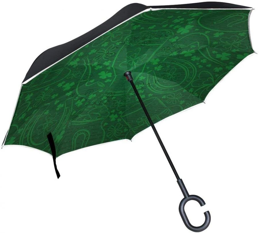 paraguas robustos en tonos verdes