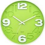 reloj de pared verde militar cocina