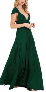 Dama de Honor Sexy y Elegante Vestidos verde mujer