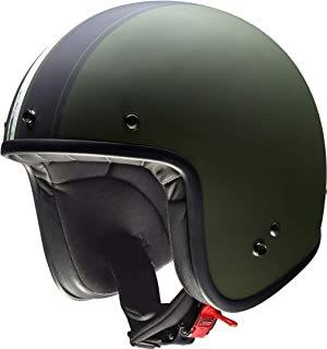 Casco de moto verde militar y negro