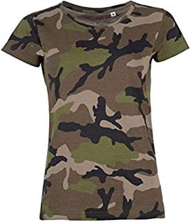 Camisetas de mujer camuflaje Camisetas y camisas militares comprar
