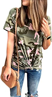 camiseta de manga corta de camuflaje mujer Camisetas y camisas militares comprar
