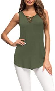 camiseta sin mangas mujer en verde militar Camisetas y camisas militares comprar