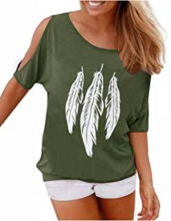 camiseta en verde con decoración hoja blanca Camisetas y camisas militares comprar