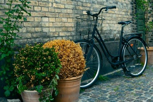 Bicicleta de color verde