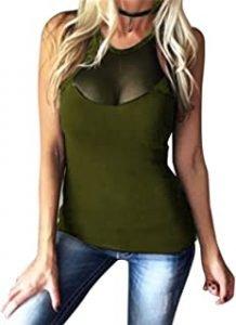 camiseta militar mujer
