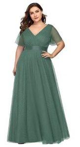 vestido de color verde novias tallas grandes