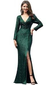vestidos tono verde mujer de fiesta