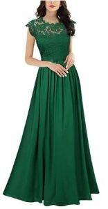 vestido verde con encajes Vestidos verde mujer
