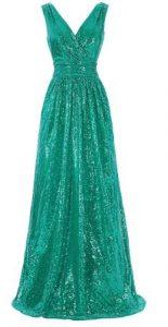 vestido verde con lentejuelas Vestidos verde mujer