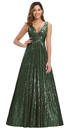 vestido verde militar fiesta