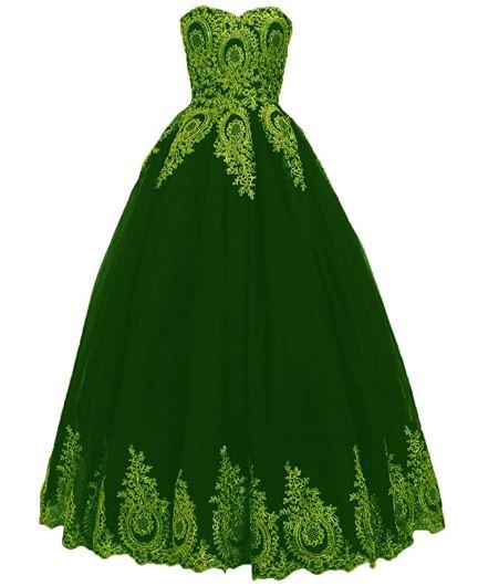 vestido verde militar quinceañeras xv
