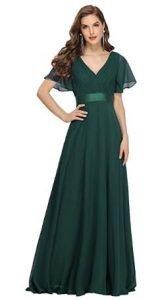 vestidos dama de honor en verde