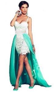 vestido de color verde novias