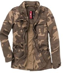 chaqueta militar hombre entretiempo