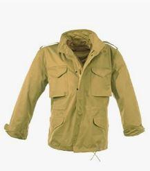 chaqueta militar hombre color camel