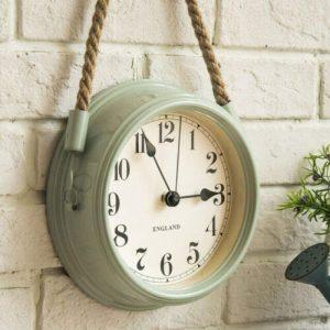 reloj de pared verde