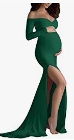 vestido verde militar premamá