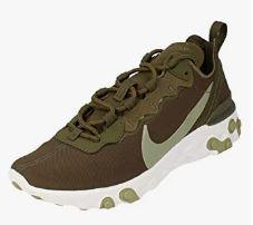 zapatillas verde militar sin cordones