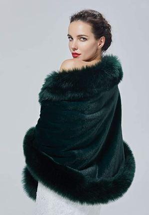 abrigo verde militar de pelo imitación