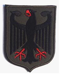 Bandera alemana en verde militar