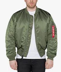 chaqueta bomber hombre verde militar