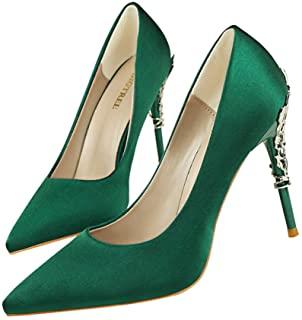 zapatos verde militar tacón