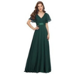 vestido verde militar noche