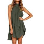vestido verano verde militar