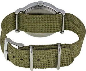 reloj mujer con correo de nylon verde militar