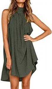 vestidos verde militar verano