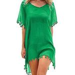 vestido verde militar de baño