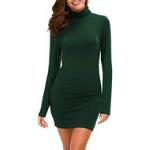 vestido de punto verde militar