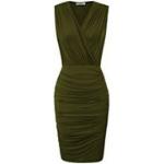 vestido verde militar ajustado
