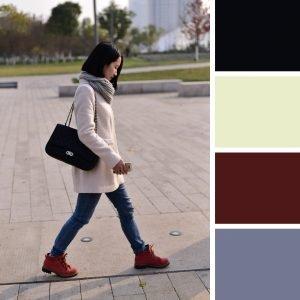 outfits bolso negro con todos los colores combinan bien