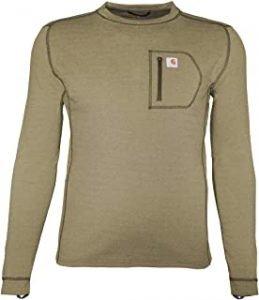 camiseta manga larga verde militar