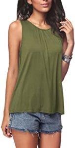 camiseta verde militar mujer