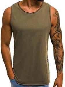 camisetas sin mangas verde