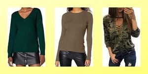 camisetas mujer manga larga verde militar