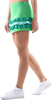 falda corta verde militar bambas