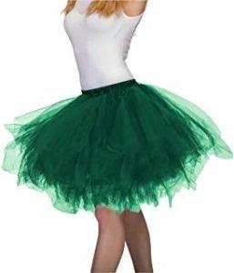 faldas para niñas en verde