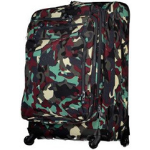 maleta con ruedas verde militar